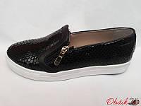 Туфли-слипоны, мокасины женские Oog лаковая кожа рептилии Oog0017