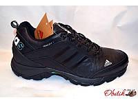 Кроссовки мужские осень-весна Adidas черные экокожа AD0019