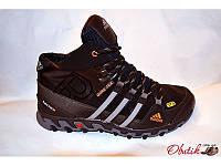 Кроссовки мужские зимние Adidas кожаные черные AD0022