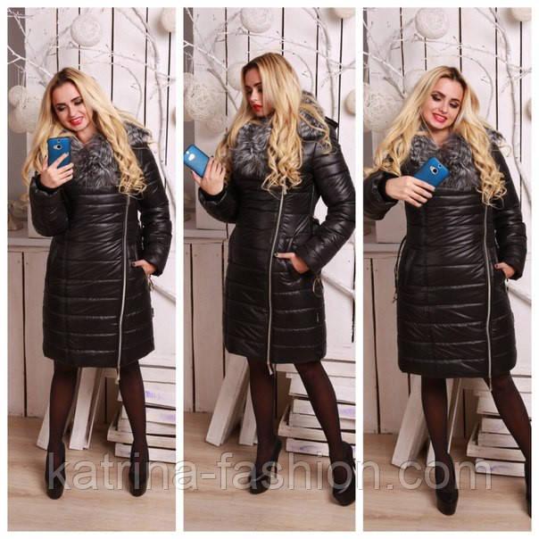 Купить женскую зимнюю одежду большого размера