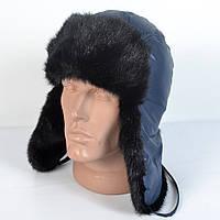 Теплая детская шапка-ушанка на зиму из искуственного меха норки