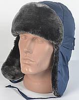 Теплая детская шапка-ушанка на зиму из искуственного меха Мутона - модель 29-319