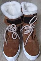 Рыжие Стильные женские зимние сапоги угги ботинки сноубутсы