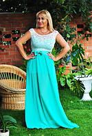 """Летнее нарядное платье в пол """"Ангелина"""" с гипюровым верхом (8 цветов)"""