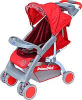 Прогулочная коляска Bambini Neon Red Strawberry с чехлом