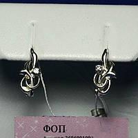 Детские сережки серебро с фианитами сс 181