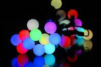 Гирлянда шарики, разноцветные led-лампочки 50шт., диаметр 23 мм, украшение дома