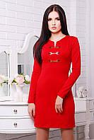 Стильное женское платье с длинным рукавом IR Дивали  цвета: бежевый | красный | шоколад