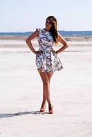 """Короткое летнее платье в цветочек """"Holly"""" с фатиновым подъюбником (лимитированный выпуск)"""