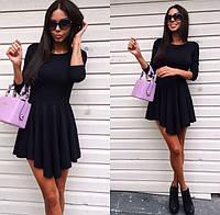 Мини - платье черное