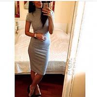 Платье -гольф серое