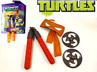Набор игрушечного оружия серии ЧЕРЕПАШКИ-НИНДЗЯ - боевое снаряжение Микеланджело (нунчаки, бандана)