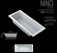 """Ванна акриловая прямоугольная SWAN """"Nino"""" 170х70х43 см.в комплекте ножками и сифоном"""