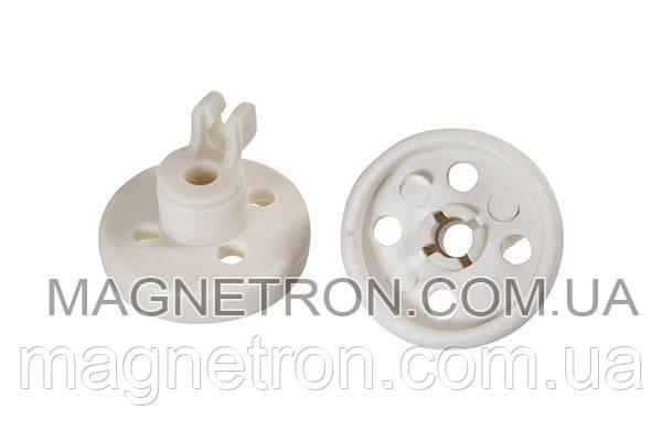 Комплект колес (2шт) + держателей (2шт) для ящика посудомоечной машины Bosch 066320, фото 2