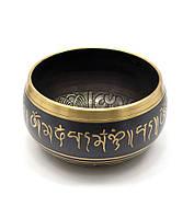 "Чаша поющая ""Будда"" (без резонатора)(18х18х9 см)(Singing Bowl Black Buddha no.5)"