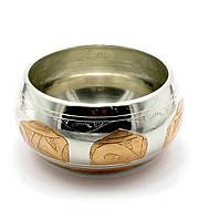Чаша поющая (без резонатора)(d-11,5 см)(Singing Bowl Silver Copper no.2)