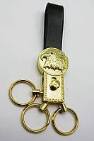 """Брелок для ключей с кожаным ремешком """"Стразы"""" 19387 D"""