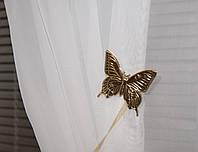 Магнит для штор бабочка золото
