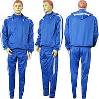 Костюм тренировочный эластиковый М9 сине-белый