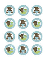"Картинки для кап-кейков ""Медвежата"" А4 (код 01262)"