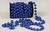 Бусы пластиковые синие, 12мм, 10м