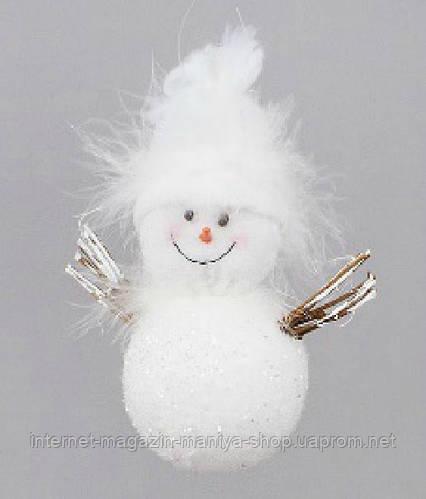 Елочное украшение Снеговик, 12см