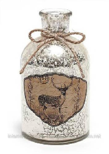 Декоративная бутылочка с рисунком и украшениями