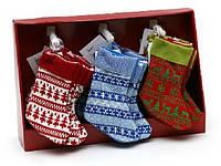 Новогодний сапожок для подарков 21см в дисплей коробке в асс 3