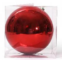 Елочный шар 25см, красный