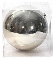 Елочный шар 25см, серебро