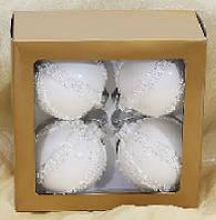 Набор стеклянных шаров (4), 8см