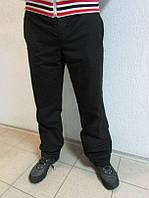 Зимние мужские спортивные штаны Адидас 10947-1 черные  код 116 Б