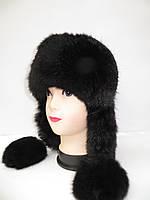 Женская меховая шапка ушанка Модель 2
