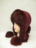 Женская зимняя шапка ушанка Модель 3