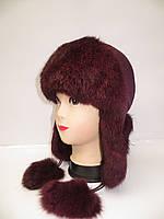 Женская шапка ушанка меховая Модель 8