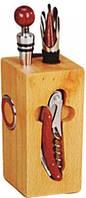 Vincent.Набор для вина на деревянной подставке 7пр.VC-6314