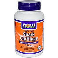 Акулящий хрящ 100% Pure Shark Cartilage 750 mg (100 caps)