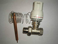 Термоголовка с выносным датчиком и двухходовым клапаном