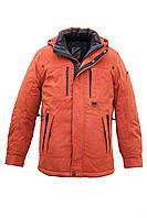 Куртка мужская больших размеров удлинённая с отстёгивающимся капюшоном