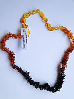 """Ожерелье из янтаря """"Трехцветное"""""""