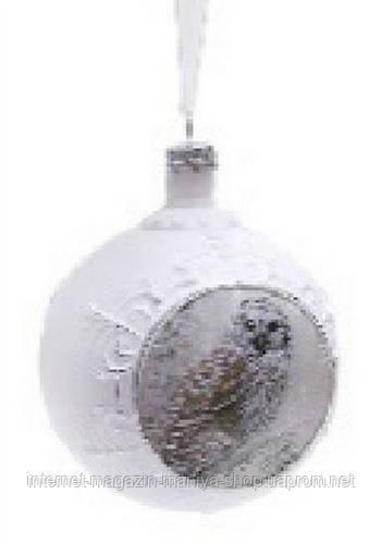 Елочный шар с рисунком, 8 см