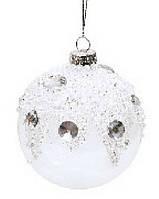 Набор елочных шаров с кристаллами (2), 8см
