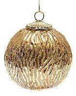 Елочный шар, античное золото, 10см
