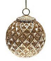 Елочный шар, античное золото, 8см