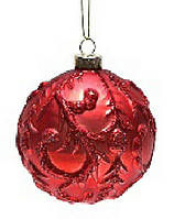 Набор шаров 8см (2) красный