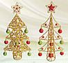 Декоративная елка с шарами, 44см
