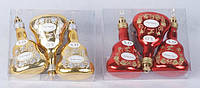 Набор елочных игрушек (3) Бутылочки,  9см