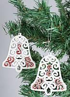 Набор елочных украшений (2) Колокольчики, 10см