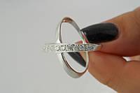 Женское кольцо серебряное с фианитами
