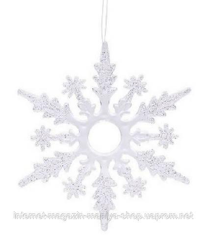 Елочное украшение Снежинка, 15см